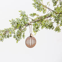 Round Laser Cut Ornament with dots