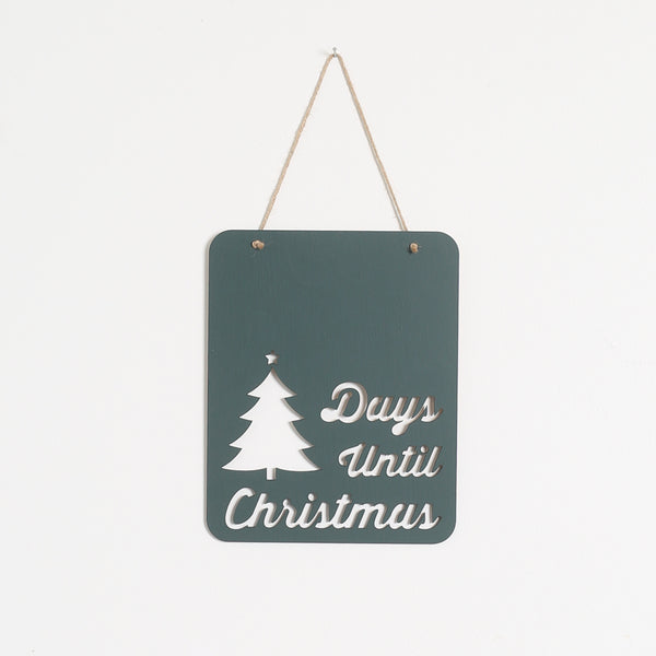 Green Christmas Countdown Chalkboard sign