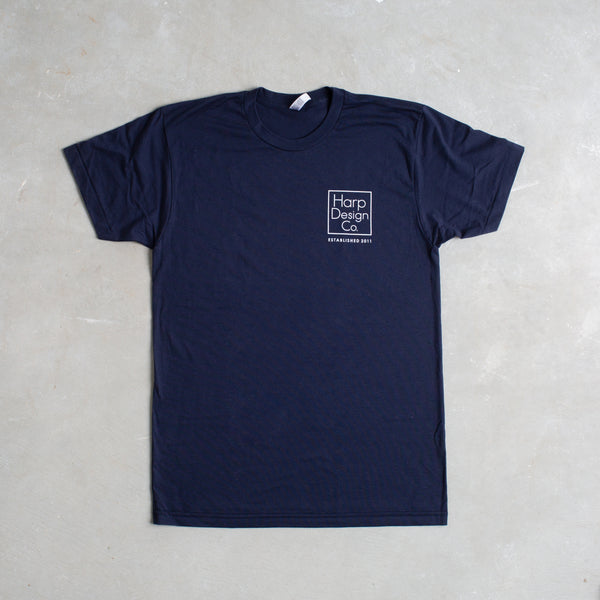 Harp Design Co. T-Shirt Navy Blue