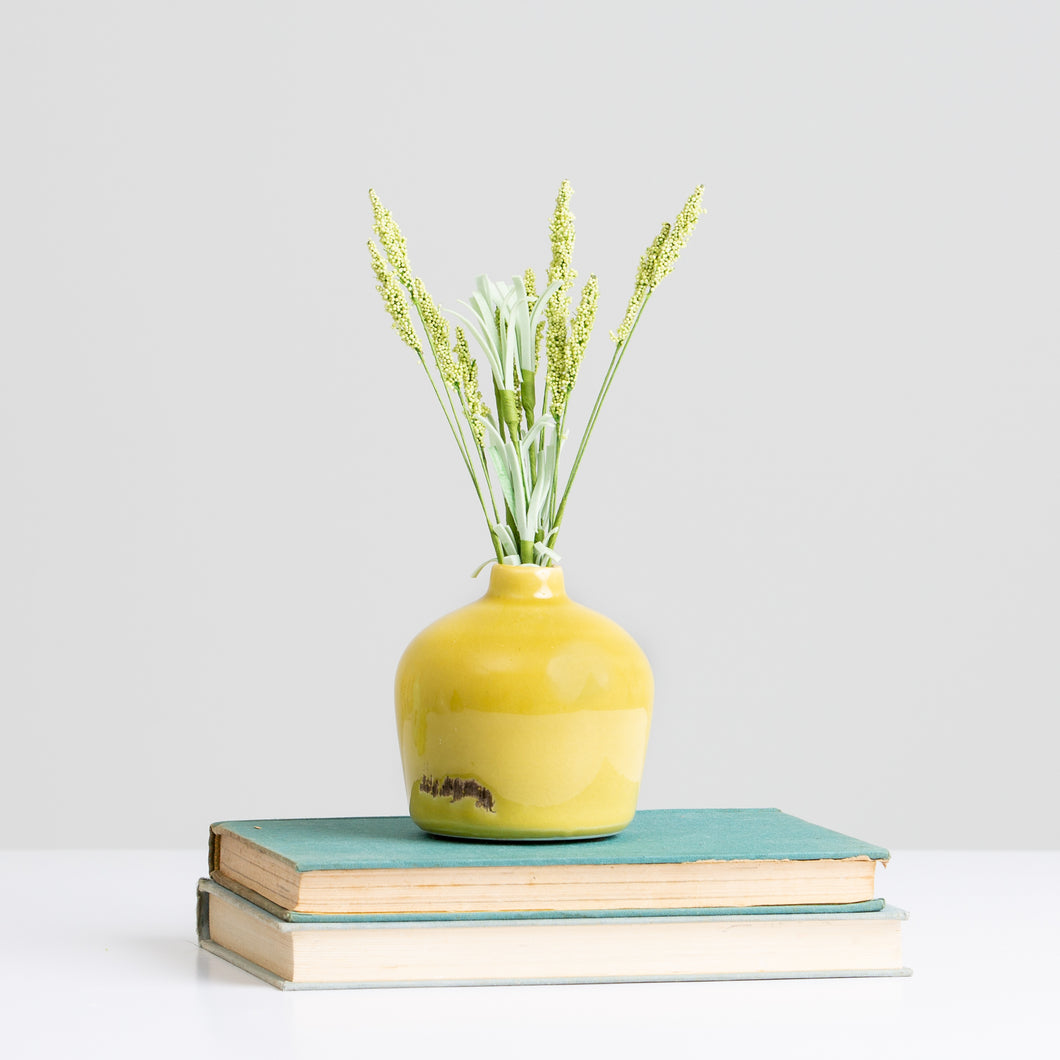 Terra Cotta Vase-Yellow