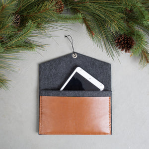 Grey Tablet Clutch