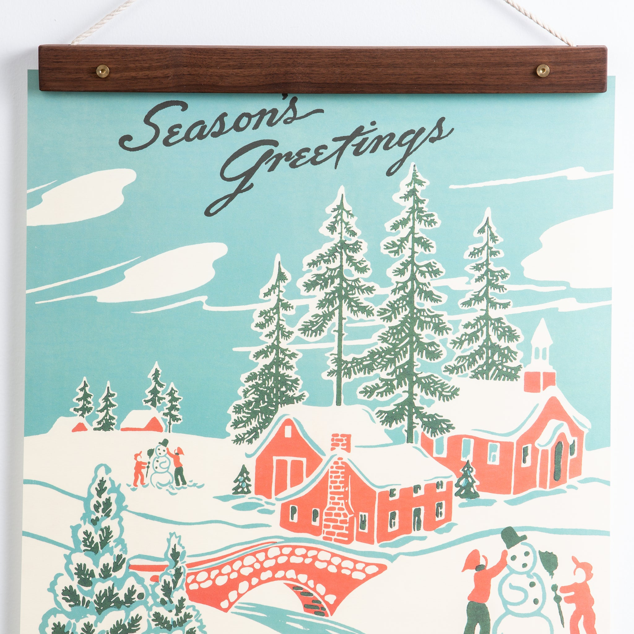 Season S Greetings Vintage Poster Harp Design Co