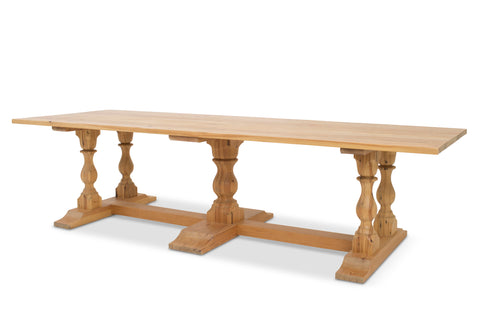 Pedestal Farm Table