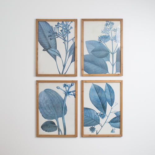 Blue Botanical Print