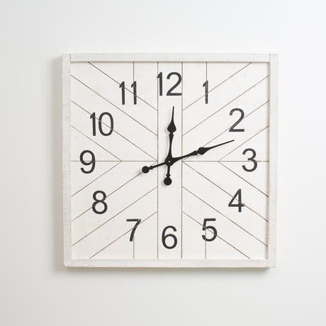 White Shiplap Clock