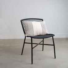Mudcloth White with Black Stripes Pillow