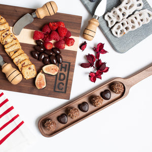 Walnut Cheese and Cracker Tray with Handle