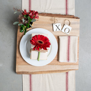 Red Two-Striped Table Runner