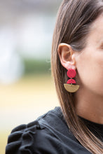 Red and Gold Clay Earrings
