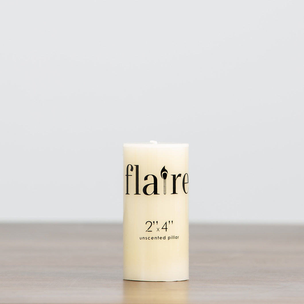 Round Unscented Pillar Candle