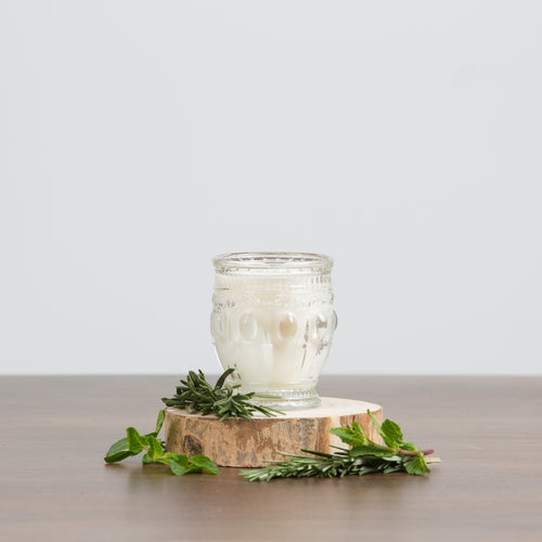 Embossed Candle-Rosemary Mint
