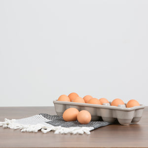 Gray Stoneware Egg Carton