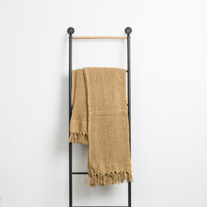 Mustard Throw with Fringe