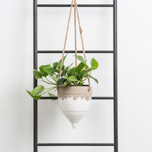 Hanging Cream Stoneware Planter