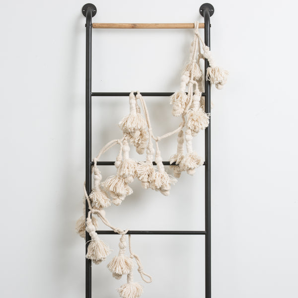 Natural Cotton Tassel Garland