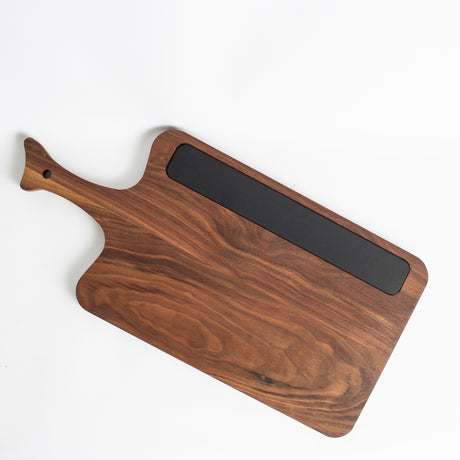 Handle Cutting Board with Chalkboard Walnut