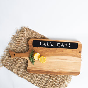 Handle Cutting Board with Chalkboard Hickory