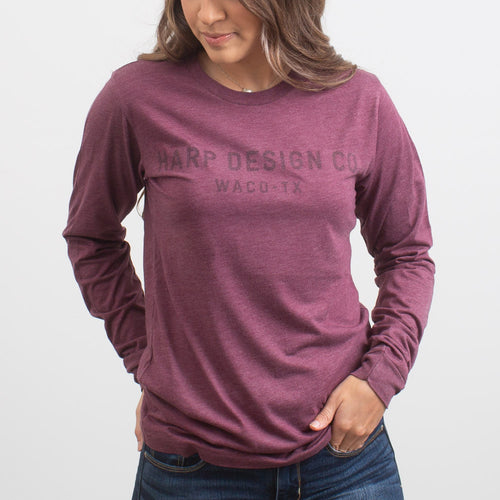 HDC Waco Long Sleeved T-Shirt BURGUNDY