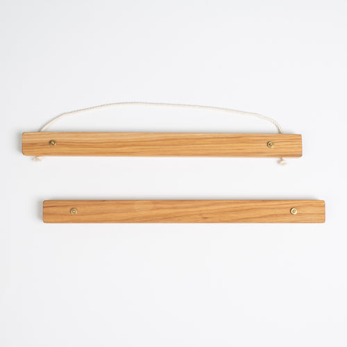 Large Wooden Picture Hanger Hickory