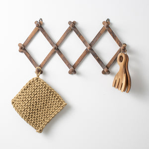 Distressed Wooden Accordion Wall Hanger