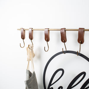 Metal and Leather Wall Hook