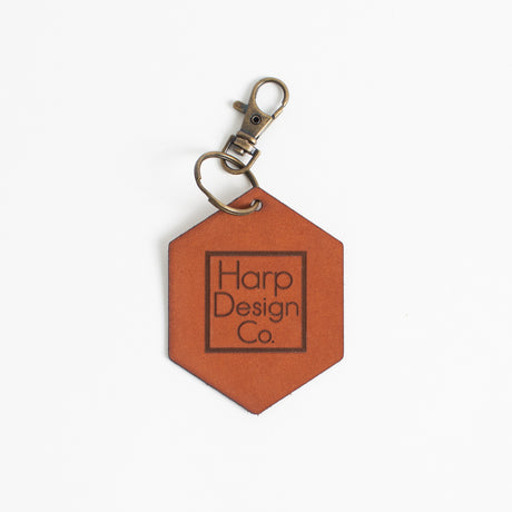 Harp Design Co. Leather Key Chain