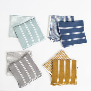Striped & Solid Dish Cloth Set