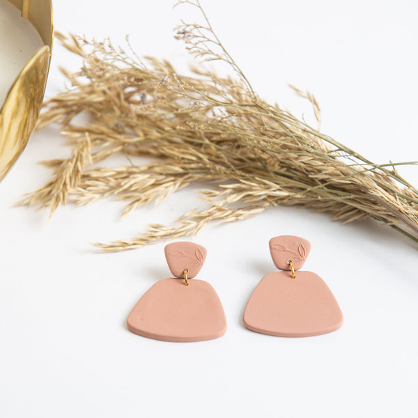 Laura Clay Earring - Matte Blush