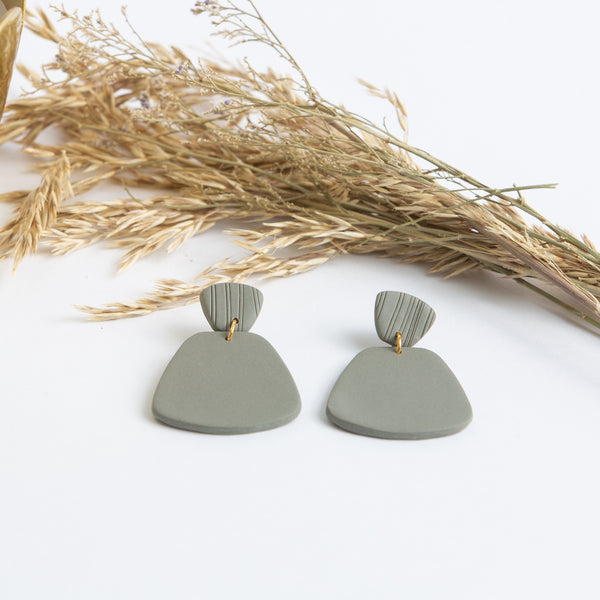 Laura Clay Earring - Matte Olive
