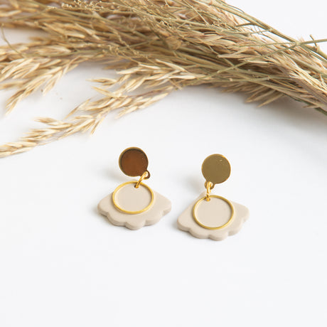 Natural Clay Petal Earring