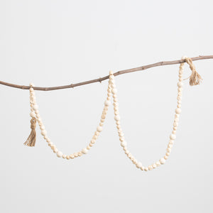 Natural Geometric Bead Garland