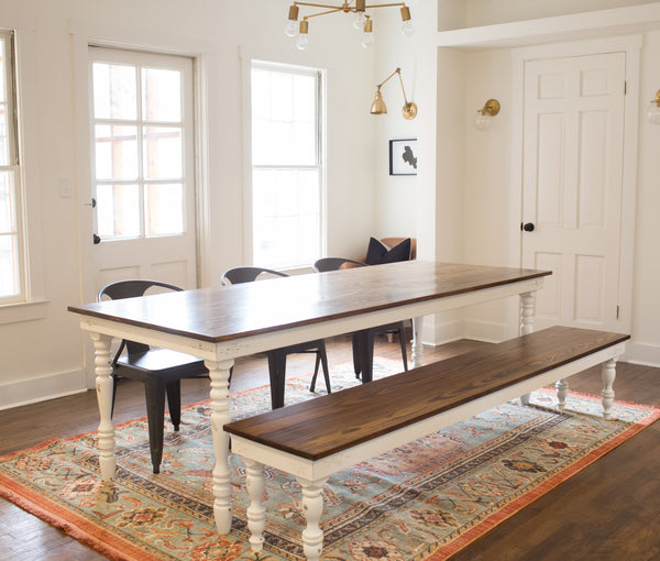 Original Farmhouse Dining Table Harp Design Co