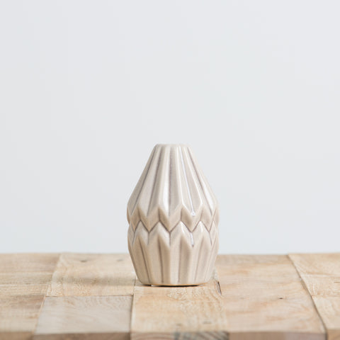 Gray Fluted Vase