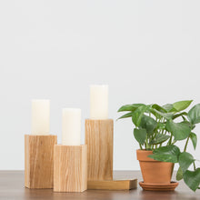 Modern Wood Candle Holder