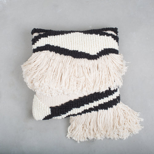 Black & White Wool Pillow