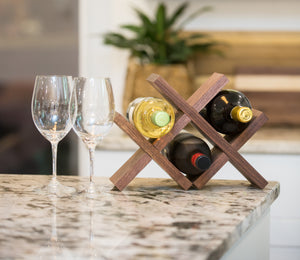 Walnut Wine Holder
