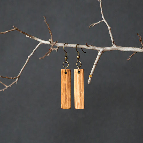 Oak Wooden Earrings