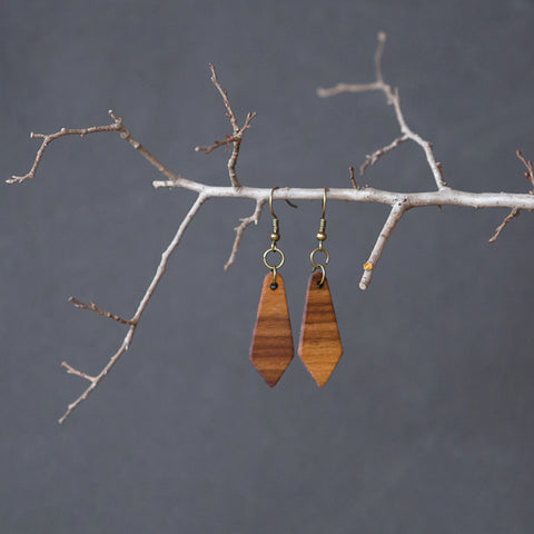 Walnut Earring
