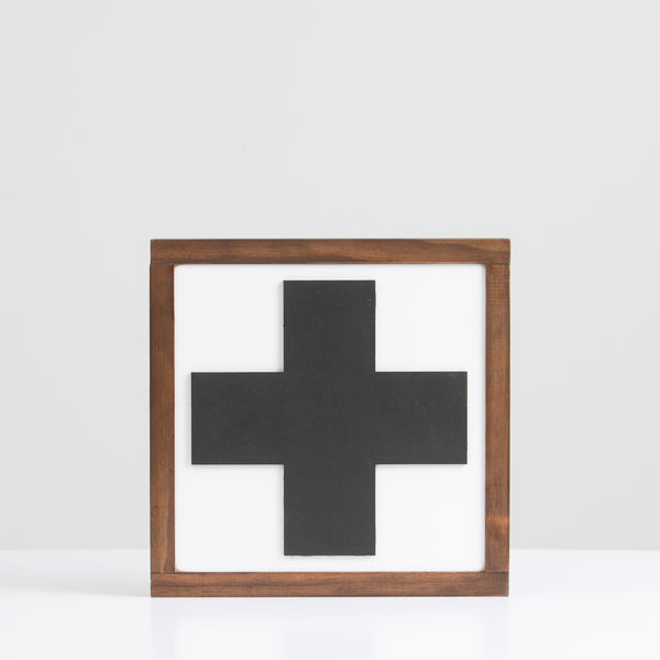 Black Cross Sign