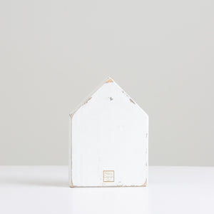 Short White Painted House