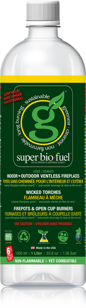 SUPER.BIO.FUEL™ – 12 X 1-LITER PACK with STARTER FLUID