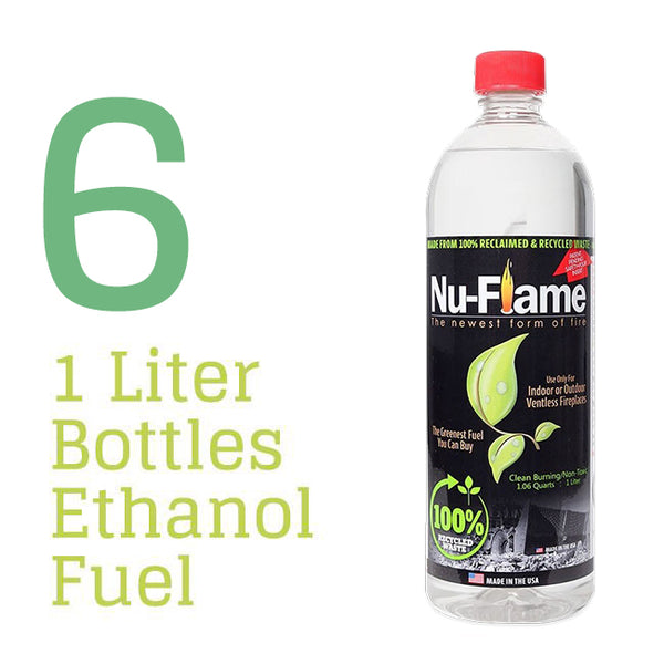 Nu-Flame® Ethanol Fireplace Fuel - 6 x 1 Liter Pack