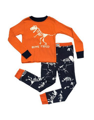 Dino Bone Tired Kids PJ Set