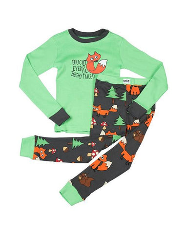 Bright Eyed and Bushy Tailed Fox Kids PJ Set
