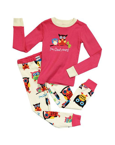 I'm Owl Yours Kids PJ Set