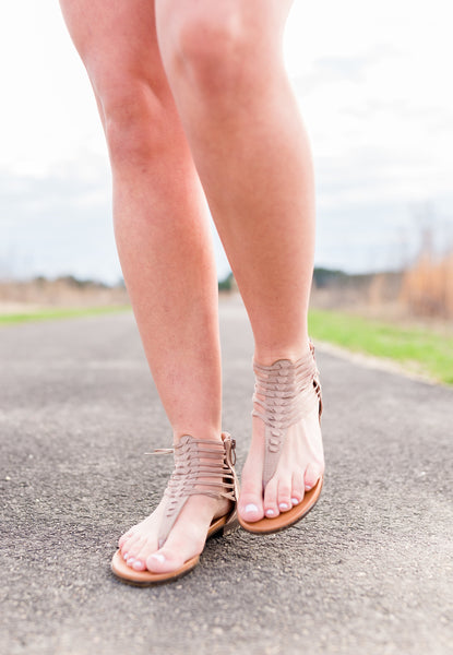 Look Alive Taupe Sandals