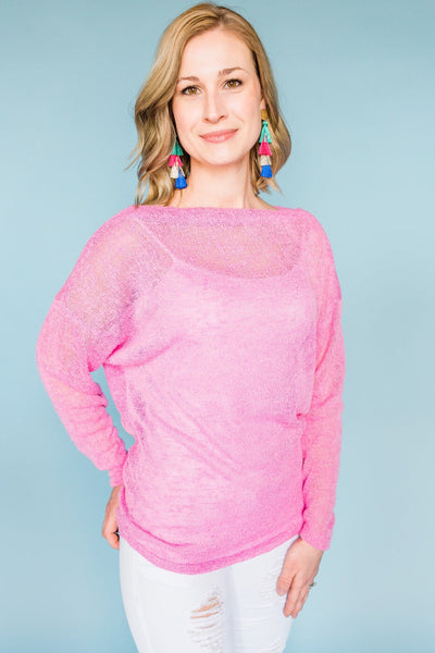 Cotton Candy Sky Top- Pink