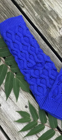 Luck Be a Lady Boot Socks- Royal Blue