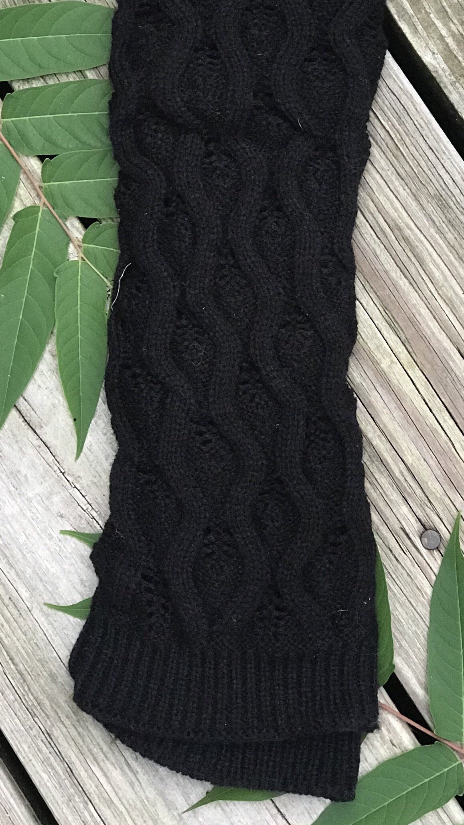 Luck Be a Lady Boot Socks- Black