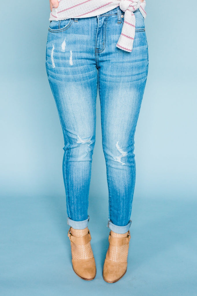 Distressed Light Denim